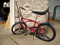 This is a Schwinn Sting Ray Boys Bike Manufactured