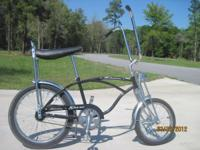 SCHWINN STINGRAY. BLACK. RIDDEN VERY LITTLE. KEPT IN