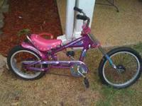 "Girl's 16"" Schwinn Stingray Chopper. Local pick up"