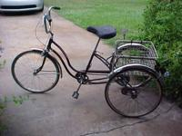 For sale, a vintage Schwinn Town and Country 3 wheel