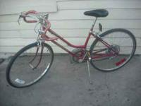 Here is a Schwinn Varsity womens 10 speed bike from the