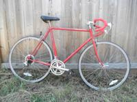 Schwinn World Sport from the late 80s, bright red w/