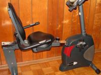 Schwinn 222 Stationary Recumbent Exercise Bike Very