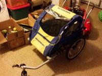 New, never made use of Schwinn Bicycle Trailer. I