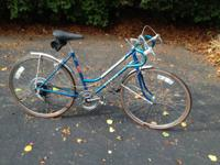 BLUE Schwinn Collegiate Sport 5-speed bicycle.