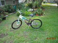 Schwinn Sidewinder 24 inch girls bicycle. Rides and