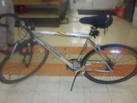 Schwinn Varsity bike in good condition. Bike sits on a