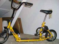Scooterbike: excellent condition, push/pedal powered,