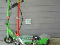 TWO razor scooters - green one is bigger and is E200 -