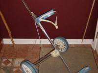 Item description: 2 Wheel Cart, a pull cart like this