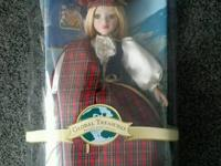 SCOTLAND PORCELAIN DOLL * BRASS KEY * WORLD TREASURES