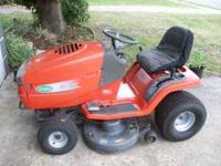 Scotts 42 inch riding lawn mower in good shape.kholer