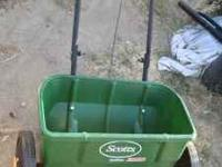 scotts fertilizer/seed spreader please call  Location: