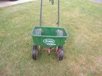 Scotts Rotary Spreader.  Location: WR