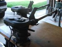 Scotty model #1101 electric downriggers. Swivel bases,