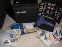 I have a Suitcase on wheels for Scrapbooking items,