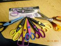 Scrapbooking Craft scissors & wedding stickers 8 paper
