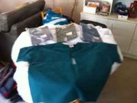 4 - Landau 3 XL scrub tops - Never worn, reversible, 3