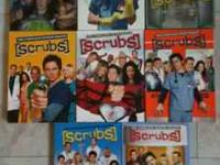 Complete seasons 1-8 of Scrubs. Great condition. Only