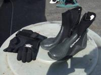 Oneil scuba boots Size 9 Straight Line Diving gloves