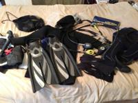 I have a complete setup for scuba diving. The equipment