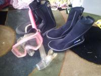 I have 2 pairs of scuba boots for sale. 1 pair of