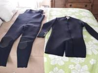 I have 2- like new 3mm Sea Quest Wet Suits, 1-Farmer