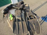 used scubapro jet fins,scubapro soft weight belt with