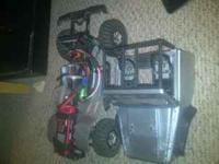 scx10 with no radio or receiver. comes with sidewinder