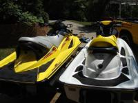 TWO SEA DOO JET SKIS (2006 GTI SE 4 TEC & & 2004 GTX SC
