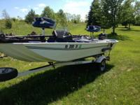 Up for sale is a 15.5 foot Sea nymph TX 155 Bass boat