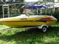1998 Sea Rayder F-16 XR Jet Boat. Just 90 easy hours.