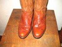 Classic pre-1973 legal Sea Turtle western cowboy boots