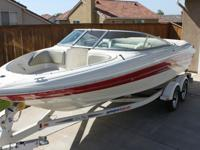 Boat is a 2005 Sea Ray 200 Sport Bowrider. (Length is