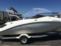 2005 Sea Doo Challenger 180 with a wake tower. The boat