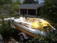 Yellow boat is on factory trailer and just had $900