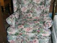 Sealy Wing Floral Chair would look nice in living or