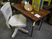 Take a look at this Seamstress Table, very cool wood