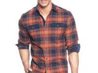 Sean John outfits this plaid shirt with doses of