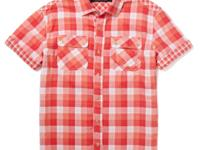 Plaid gets some edge on this contrast colored shirt