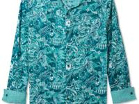 Vibe your style with this tropical print shirt by Sean