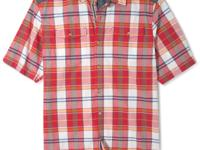 Smarten up your casual tee look with this vivid plaid
