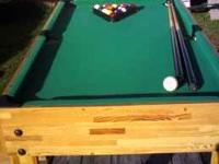 Ive got a combination game table for sale. Pool,