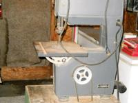 "Sears Craftsman 12"" Band Saw/Sander on wheels with 6"