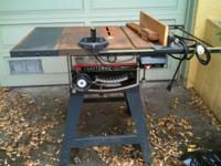 "Sears Craftsman 12"" table saw with stand - $350 OBO."