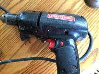 Vintage Sears Craftsman 3/8 inch electric drill Working