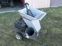 Sears Craftsman chipper shredder Good running 8 HP