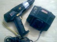 FOR SALE: CRAFTSMAN CORDLESS DRILL + CHARGER FEATURES: