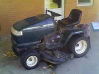 Sears Craftsman Riding Lawnmower with wagon 6--speed/46