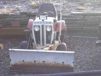 sears custom garden tractor with plow mower deck and